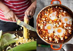 Baked eggs and sweet corn, FRENCH & GRACE