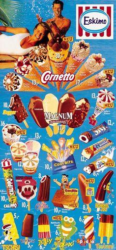 Eskimo 1995 -> Es hieß Tschisi :D Ice Cream Prices, Ice Cream Brands, Ice Cream Poster, Childhood Memories 90s, Vintage Ice Cream, Ice Cream Van, Popsicles, Vintage Ads, Dairy