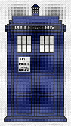 The TARDIS Cross Stitch Kit - Complete Charted Kit - Doctor Who - Cross Stitch on Etsy, £8.29 Making for FS