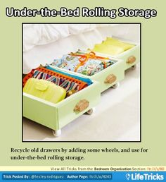 Bedroom Organization - Under-the-Bed Rolling Storage