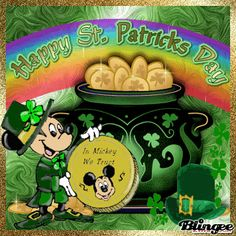 St Patricks Day Pictures, St Patricks Day Quotes, Happy St Patricks Day, Minnie Mouse Cartoons, Baby Mickey Mouse, Animated Disney Characters, St Patricks Day Clipart, Saint Patricks Day Art, Gifs
