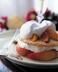 Roasted Peach Pies with Cream