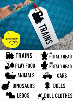 Toy storage tags #printable