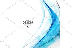 Abstract vector background, blue wavy Graphics Abstract vector background, blue waved lines for brochure, website, flyer design. Transparent water by Marinstri