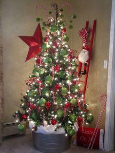 #Decoración #navideña en rojo y verde