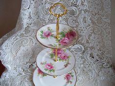 OOAK Vintage Royal Albert American Beauty by YorkshireTeaCupShop