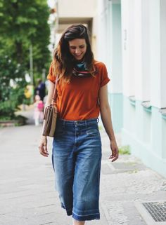 OUTFIT // <br/> Denim Culottes & Mademoiselle Faye
