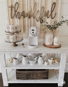 Simple fall/vintage coffee bar