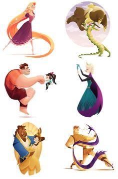 This Artist Illustrated Every Single Animated Disney Movie.