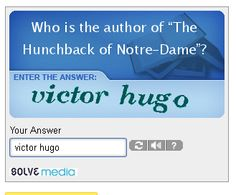 Thank you! Repin: Why can't all Captchas be like this?