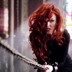 Rowena when she was Sam's prisoner
