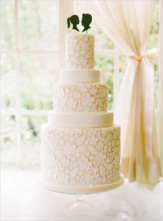 Lovely: Wedding Trend: Silhouettes and lace wedding cake topper