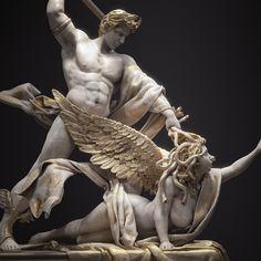 Ancient Greek Sculpture, Greek Statues, Ancient Art, Perseus And Medusa, Medusa Art, Greek Mythology Tattoos, Greek And Roman Mythology, Carpeaux, Roman Art