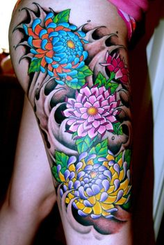To surround my koi fish (sleeve arm). Image Detail for - Japanese Tattoos: Japanese Flower Tattoo Gallery