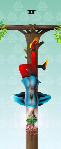 The Hanged Man - Mutation Tarot