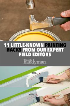 11 Little-Known Painting Hacks from Our Expert Field Editors tips 11 Little-Known Painting Hacks from Our Expert Field Editors Bh Hacks, San Diego, Home Fix, Garage Remodel, Diy Home Repair, Home Repairs, Do It Yourself Home, Painting Tips, Spray Painting