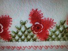 İğne oyası Havlu kenarı modelleri Bobbin Lace, Needle Lace, Burlap Wreath, Knots, Stitch, Cactus, Point Lace, Craft, Ribbons