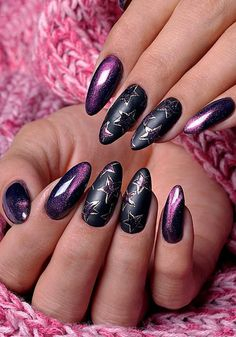 27 pink nails designs to look romantic and girly page 64 Diy Nails, Cute Nails, Pretty Nails, Diy Nail Polish, Nails Yellow, Purple Nails, Nail Pink, Nail Art Printer, Chrome Nail Art