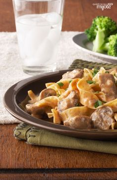 Slow-Cooker Beef Stroganoff — Your slow cooker does the heavy lifting in this classic beef stroganoff recipe. Just prep some pasta while the beef, garlic, onions and mushrooms simmer away. Classic Beef Stroganoff Recipe, Slow Cooker Beef Stroganoff Recipe, Crock Pot Slow Cooker, Crock Pot Cooking, Slow Cooker Recipes, Crockpot Recipes, Cooking Recipes, What's Cooking, Lamb Recipes