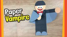 Paper Vampire Craft | Fun Halloween crafts for kids
