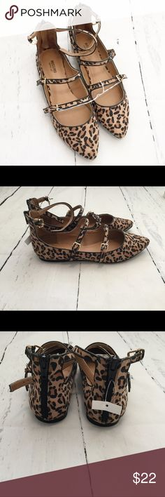 Cheetah Triple Strap Pointed Toe Flats So adorable! So stylish! 3 adjustable straps and zips up in the back. Mossimo Supply Co. Shoes Flats & Loafers