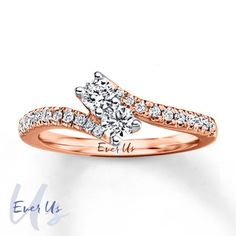 Jared - Ever Us Two-Stone Ring 1/2 ct tw Diamonds 14K Rose Gold