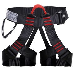 Shxmlf Safety Climbing Harness-Perfect Starter Harness For High Level Work Descending Rappelling Expand Training Caving Rock Climbing Harness, Woman Man Child Half Body Guide Harness Rock Climbing Harness, Rappelling, Man Child, Body Size, High Level, One Size Fits All, Gym, Children, Fitness