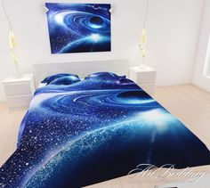 This galaxy bedding set is out of this world and just the home décor accessory you've been searching for! Made from a mixture of cotton satin and