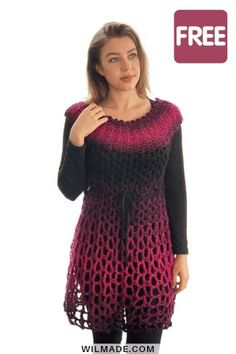 Poncho Dress - free crochet poncho pattern by Free crochet pattern for this crochet poncho dress can be found on - including video tutorial. Free crochet pattern for this crochet poncho dress can be found on - including video tutorial. Crochet Poncho Patterns, Crochet Tunic, Crochet Clothes, Easy Crochet, Dress Patterns, Crochet Baby, Free Crochet, Knitting Patterns, Ravelry Crochet