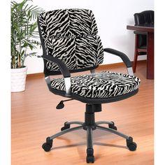 Aragon Contemporary Zebra Office Chair