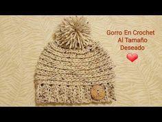 Como tejer un gorro a crochet con pompom y flor para niña o adulto - Parte 1 - YouTube