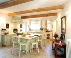 For those who are big fans of French Country design, you can live that lifestyle in Les Murets, a charming property with six bedrooms, five bathrooms, a swimming pool, a tennis court, and pool house. The kitchen has beautiful details, a large kitchen island, and professional stove. Rate: €5,600 /night   - HouseBeautiful.com