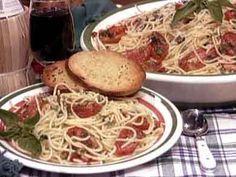 Roasted Tomato Spaghetti   mrfood.com