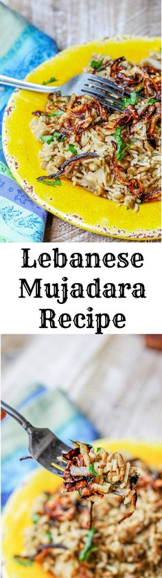 Lebanese Mujadara Recipe combines lentils with rice for a perfectly balanced protein dish. Seasoned with Middle Eastern flavors and topped with crispy fried onions, makes this a truly irresistible meal.