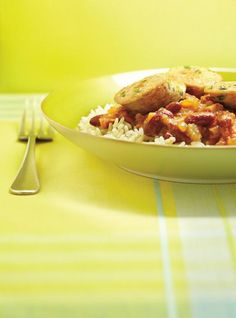 Red Beans and Rice Red Bean And Rice Recipe, Rice Recipes, Cooking Recipes, Ricardo Recipe, Gluten Free Rice, Red Beans, Casserole, Side Dishes, Lunch