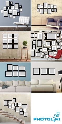 Eine Bilderwand oder Bildergalerie ist ein Schmuckstück in jedem Raum. Hier ver… A picture wall or picture gallery is a gem in every room. Here we reveal some tricks and tricks like themselves Frame to an impressive arrange to be arranged. Black And White Living Room Decor, Dining Chandelier, Industrial Chandelier, Gallery Wall Layout, Gallery Walls, Photo Deco, Family Wall, Home And Deco, Cool Rooms
