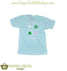 Custom! Kappa Delta Four Philanthropies One Sisterhood Light Blue V-Neck