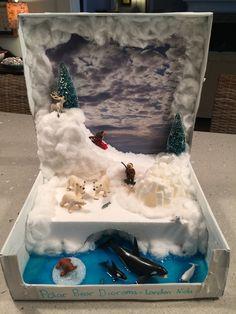 Krabice od topánok sa nájdu z času na čas u každého. Napokon, kto by si r… Oso Polar Habitat, Arctic Habitat, Bear Habitat, Ecosystems Projects, Science Projects, School Projects, Projects For Kids, Project Ideas, Polar Animals