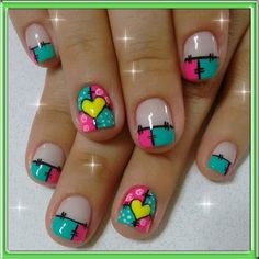 Ideas Holiday Nails French Tip Valentines Day For 2019 Feet Nail Design, Toe Nail Designs, Nail Polish Designs, Shellac Nails, Diy Nails, Acrylic Nails, Love Nails, Pretty Nails, Teacher Nails