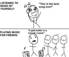 So true, happens with music, movies, etc. Funny Meme Comic – Music #meme #music #comedy