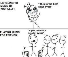 So true, happens with music, movies, etc. Funny Meme Comic – Music #meme #music #comedy