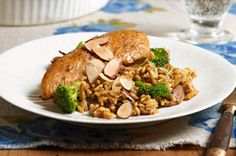Almond Chicken and Rice recipe from Kraft Food magazine. Tried it and loved it!  Light and flavorful!