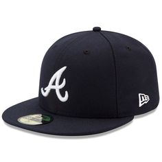 Men's Atlanta Braves New Era Navy Road Authentic Collection On-Field 59FIFTY Fitted Hat, Your Price: $34.99