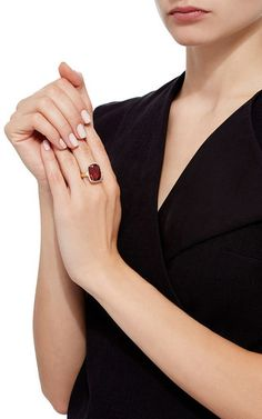 Malai Garnet and Diamond Ring by Pamela Huizenga | Moda Operandi