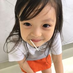 Ulzzang Kids, Korean Babies, Asian Kids, Cute Babies, Children, Makeup, Beautiful, Amor, Bebe