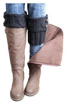 I love these cuffs for boots. Winter Leg Warmer Crochet Knit Boot Socks