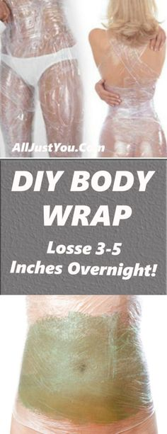 If you're looking to loose a couple of inches before a big event or you want a more toned stomach, a DIY body wrap is just the thing you're looking for! Body wraps are usually done at salons, but t… Weight Loss Before, Losing Weight Tips, Weight Gain, Diy Body Wrap, Weight Loss Wraps, Fat Loss Diet, Body Detox, Body Cleanse, Lose Weight Naturally