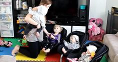 Hilarante vidéo d'un moment de vie avec des triplets et un bout de chou.  http://rienquedugratuit.ca/videos/hilarante-video-dun-moment-de-vie-avec-des-triplets-et-un-bout-de-chou/