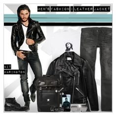 """""""Men's Fashion - Leather Jacket"""" by alves-nogueira ❤ liked on Polyvore featuring Givenchy, Sandro, Dolce&Gabbana, Linda Farrow, Yves Saint Laurent, Nicole Miller, men's fashion and menswear"""