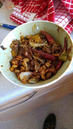 [OC] Kung Pao Beef I made last week